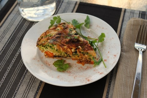 Low-Amine Layered Frittata (low-amine, gluten-free, soy-free, dairy-free, nut-free, low-fat, low-carb, paleo, vegetarian) photo